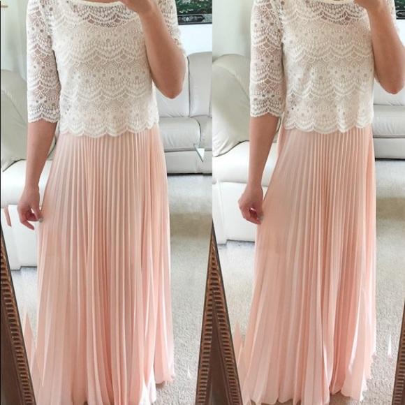 White House Black Market Skirts Light Pink Size 0 Maxi Skirt With